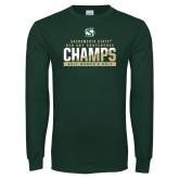 Dark Green Long Sleeve T Shirt-2017 Big Sky Conference Womens Golf
