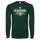 Dark Green Long Sleeve T Shirt-2019 Womens Track and Field Champions