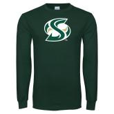 Dark Green Long Sleeve T Shirt-S Mark