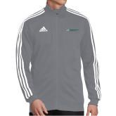 Adidas Grey Tiro 19 Training Jacket-Official Logo Flat
