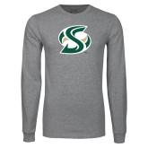 Grey Long Sleeve T Shirt-S Mark