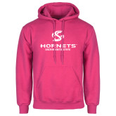 Fuchsia Fleece Hoodie-Official Logo