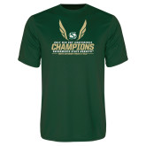 Performance Dark Green Tee-2017 Big Sky Conference Mens Outdoor Track and Field Champions