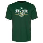 Performance Dark Green Tee-2019 Womens Track and Field Champions