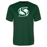 Performance Dark Green Tee-S Mark