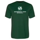 Performance Dark Green Tee-Baseball