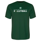 Performance Dark Green Tee-Sacramento State Volleyball Flat