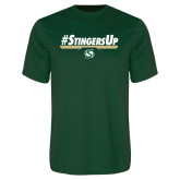 Performance Dark Green Tee-#StingersUp