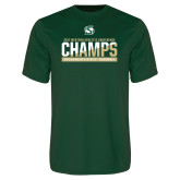 Performance Dark Green Tee-2017 Western Athletic Conference Baseball Champions