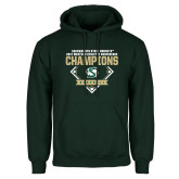 Dark Green Fleece Hood-2017 Western Athletic Conference Baseball Champions