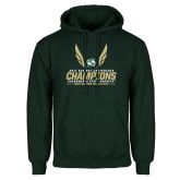 Dark Green Fleece Hood-2017 Big Sky Conference Mens Outdoor Track and Field Champions