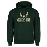 Dark Green Fleece Hood-2017 Big Sky Conference Mens Outdoor Track and Field Champions