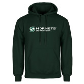 Dark Green Fleece Hood-Official Logo Flat