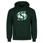 Dark Green Fleece Hood-S Mark