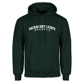 Dark Green Fleece Hood-Arched Sacramento State Hornets
