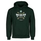 Dark Green Fleece Hood-Sacramento State Hornets Softball w/ Seams
