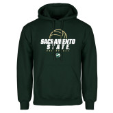 Dark Green Fleece Hood-Sacramento State Volleyball w/ Ball
