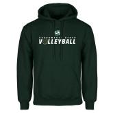 Dark Green Fleece Hood-Sacramento State Volleyball Flat