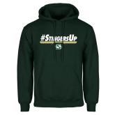 Dark Green Fleece Hood-#StingersUp