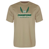 Performance Vegas Gold Tee-2017 Big Sky Conference Mens Outdoor Track and Field Champions