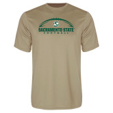 Performance Vegas Gold Tee-Sacramento State Football w/ Ball