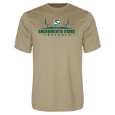 Performance Vegas Gold Tee-Sacramento State Football w/ Field