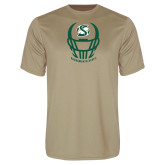 Performance Vegas Gold Tee-Sacramento State Football w/ Helmet
