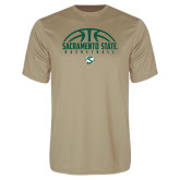 Performance Vegas Gold Tee-Sacramento State Basketball Half Ball