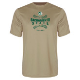 Performance Vegas Gold Tee-Sacramento State Hornets Softball w/ Seams