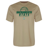 Performance Vegas Gold Tee-Sacramento State Volleyball w/ Ball