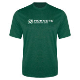 Performance Dark Green Heather Contender Tee-Official Logo Flat
