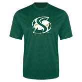 Performance Dark Green Heather Contender Tee-S Mark