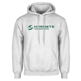 White Fleece Hoodie-Official Logo Flat