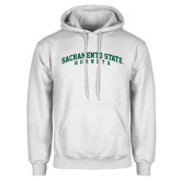 White Fleece Hoodie-Arched Sacramento State Hornets