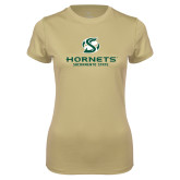 Ladies Syntrel Performance Vegas Gold Tee-Official Logo