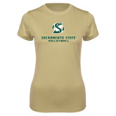 Ladies Syntrel Performance Vegas Gold Tee-Volleyball