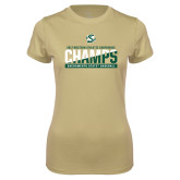 Ladies Syntrel Performance Vegas Gold Tee-2017 Western Athletic Conference Baseball Champions