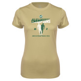 Ladies Syntrel Performance Vegas Gold Tee-2017 Big Sky Conference Mens Outdoor Track and Field Champions