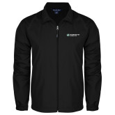 Full Zip Black Wind Jacket-Official Logo Flat
