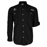 Columbia Bahama II Black Long Sleeve Shirt-Official Logo