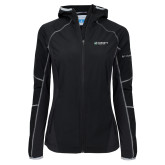Columbia Ladies Sweet As Black Hooded Jacket-Official Logo Flat