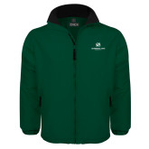 Dark Green Survivor Jacket-Stacked Logo