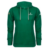 Adidas Climawarm Dark Green Team Issue Hoodie-Official Logo