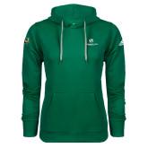Adidas Climawarm Dark Green Team Issue Hoodie-Stacked Logo