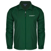 Full Zip Dark Green Wind Jacket-Official Logo Flat