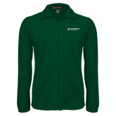 Fleece Full Zip Dark Green Jacket-Official Logo Flat