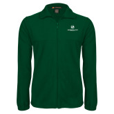 Fleece Full Zip Dark Green Jacket-Stacked Logo