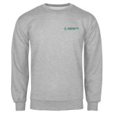Grey Fleece Crew-Official Logo Flat