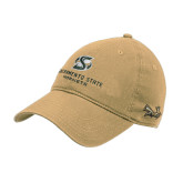 Vegas Gold Twill Unstructured Low Profile Hat-Stacked Logo