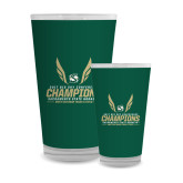 Full Color Glass 17oz-2017 Big Sky Conference Mens Outdoor Track and Field Champions
